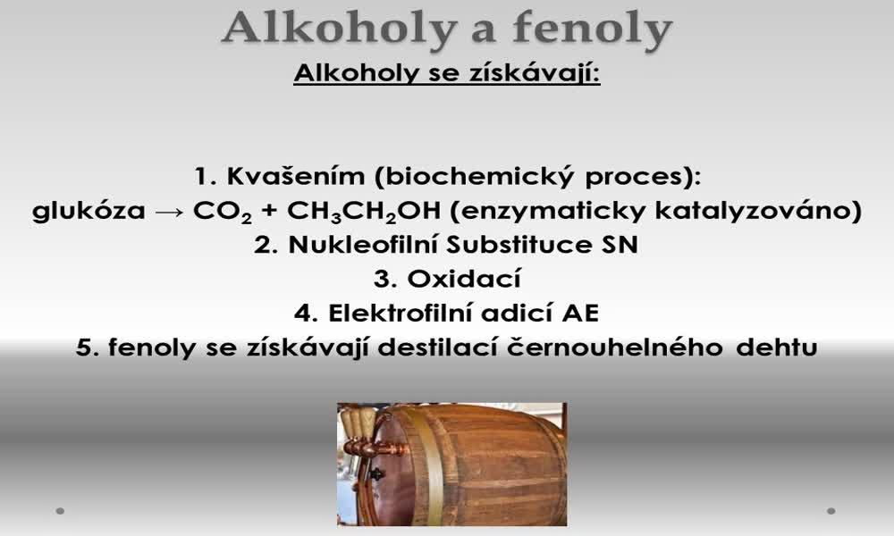 4. náhled výukového kurzu Alkoholy a fenoly