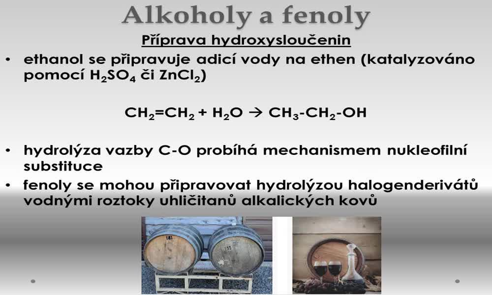5. náhled výukového kurzu Alkoholy a fenoly