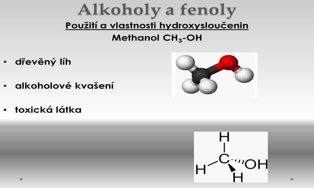 6. náhled výukového kurzu Alkoholy a fenoly