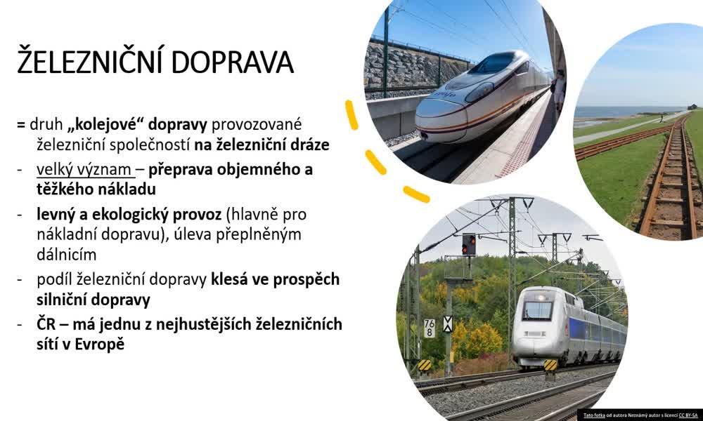 4. náhled výukového kurzu Doprava, cestovní ruch a služby