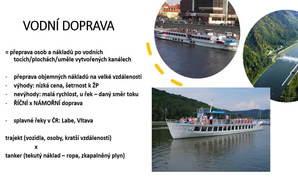 5. náhled výukového kurzu Doprava, cestovní ruch a služby