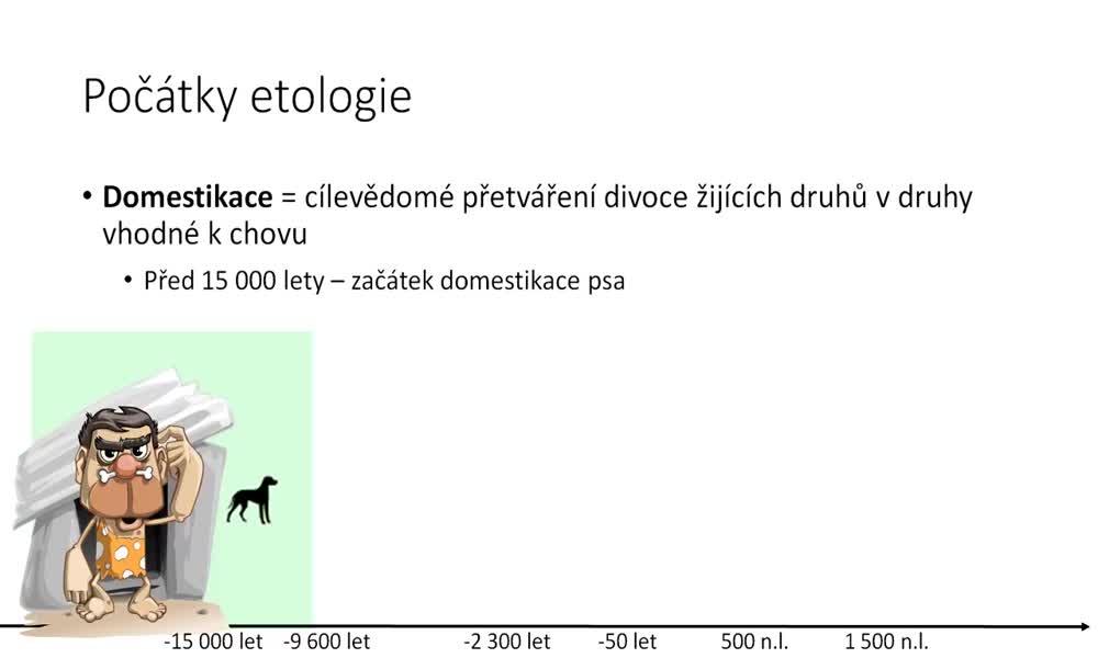 3. náhled výukového kurzu Etologie - co je to etologie