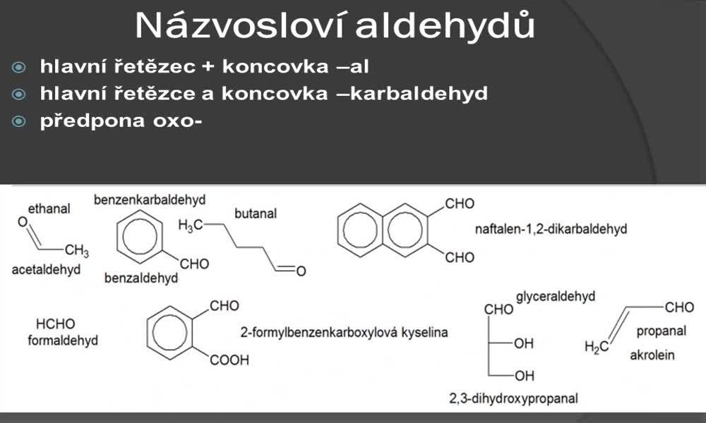 2. náhled výukového kurzu Aldehydy a ketony