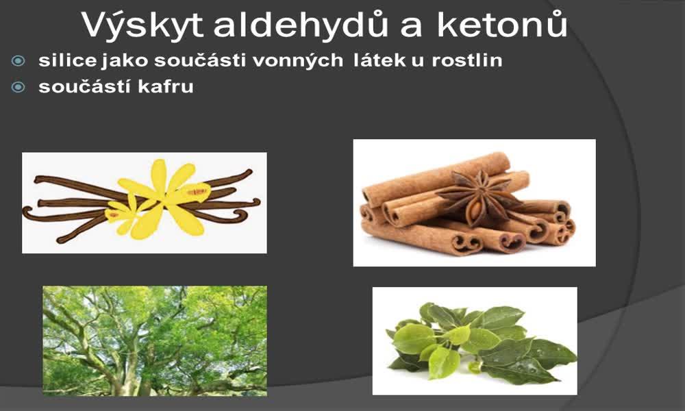 3. náhled výukového kurzu Aldehydy a ketony