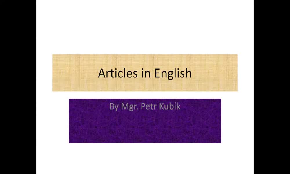 1. náhled výukového kurzu Articles