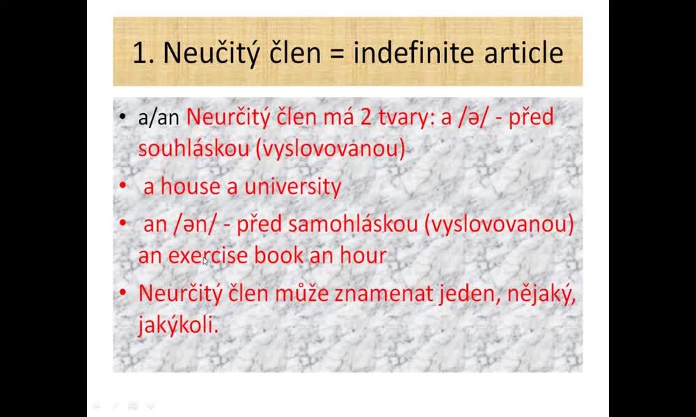 2. náhled výukového kurzu Articles