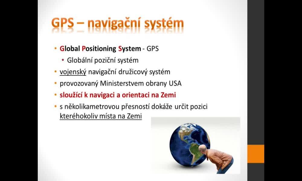 3. náhled výukového kurzu Geografické informační a navigační systémy