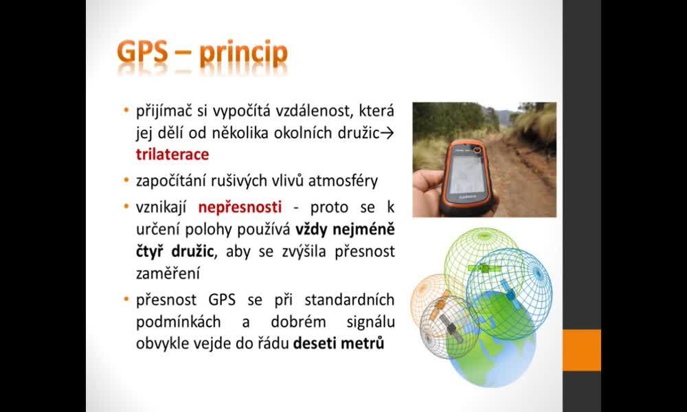 5. náhled výukového kurzu Geografické informační a navigační systémy