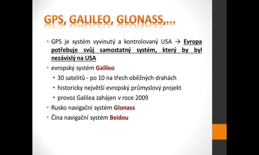 6. náhled výukového kurzu Geografické informační a navigační systémy