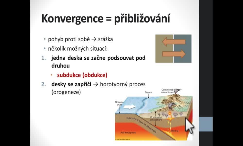 5. náhled výukového kurzu Deformace litosféry, desková tektonika
