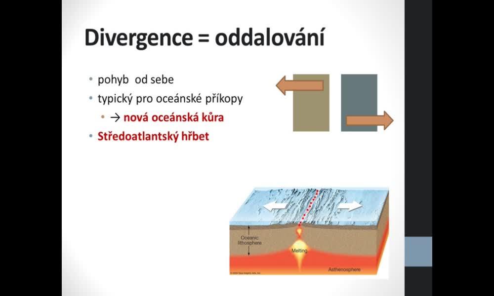 6. náhled výukového kurzu Deformace litosféry, desková tektonika