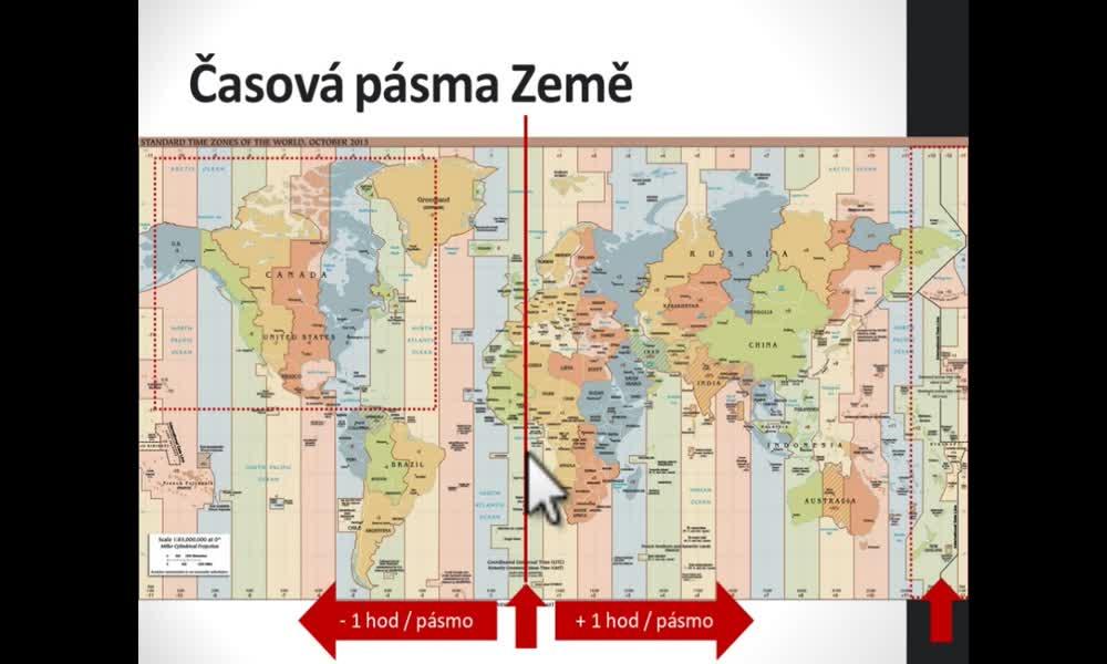 4. náhled výukového kurzu Časová pásma na Zemi, kalendář