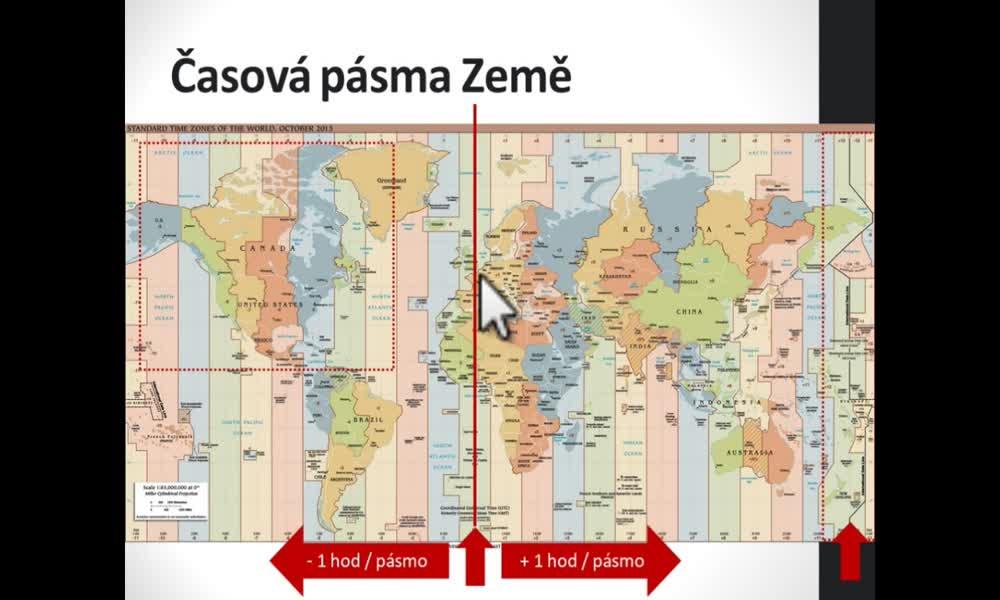 5. náhled výukového kurzu Časová pásma na Zemi, kalendář