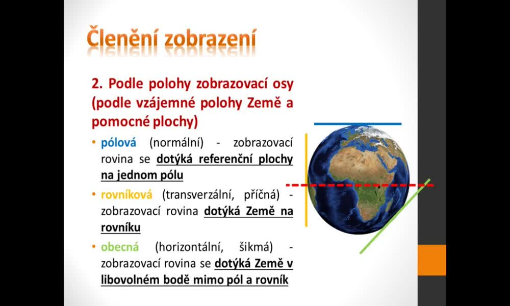 4. náhled výukového kurzu Geografická kartografie a topografie