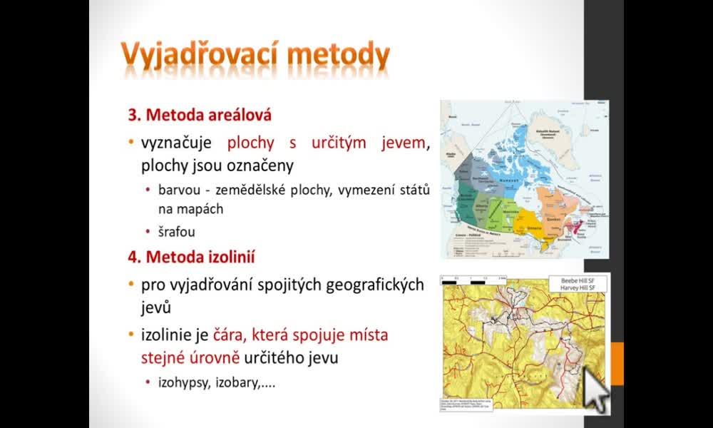4. náhled výukového kurzu Geografický a kartografický vyjadřovací jazyk