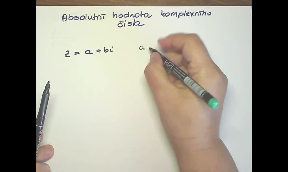 1. náhled výukového kurzu Goniometrický tvar komplexního čísla