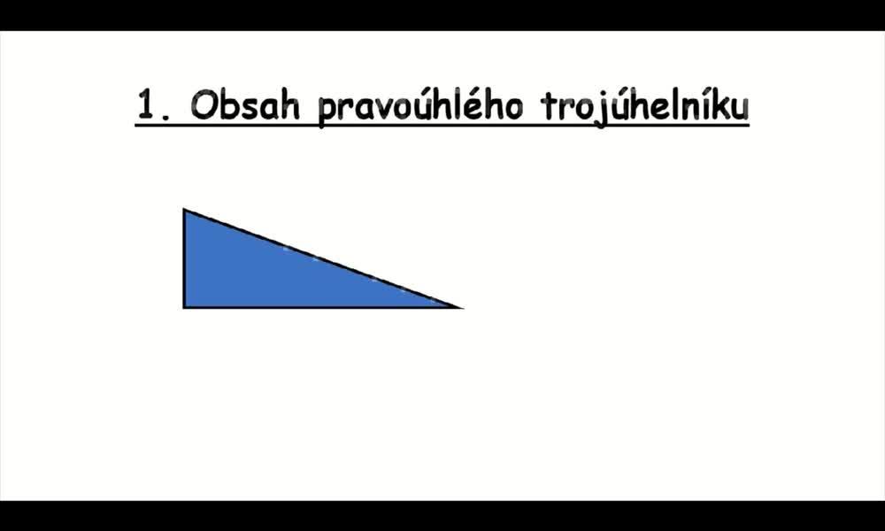 1. náhled výukového kurzu Obsah trojúhelníku