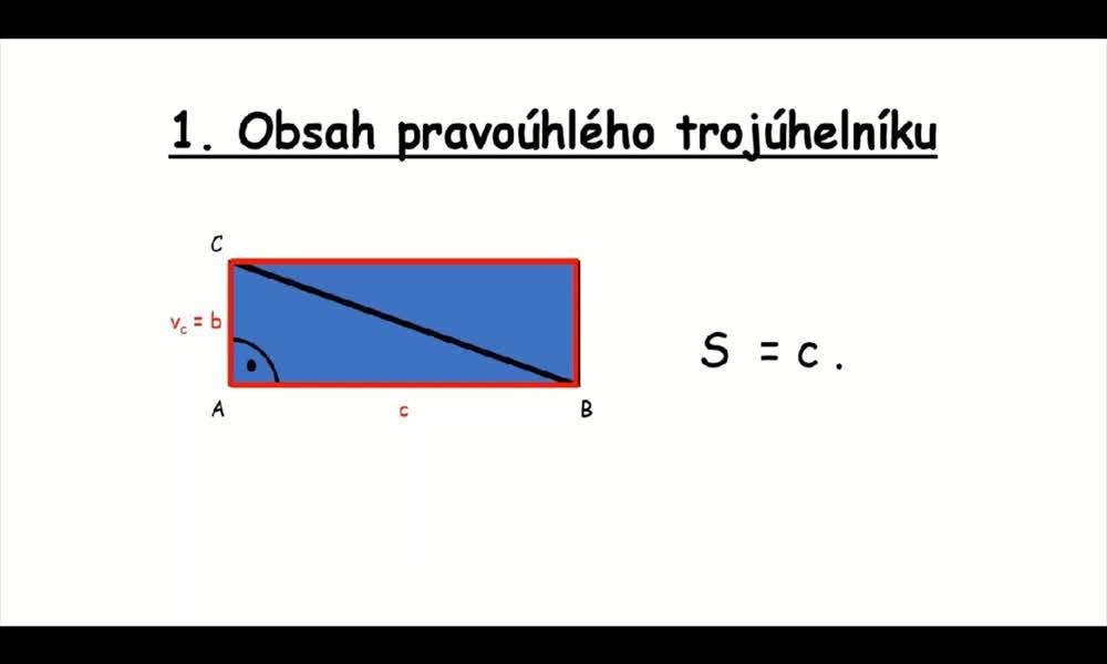 2. náhled výukového kurzu Obsah trojúhelníku