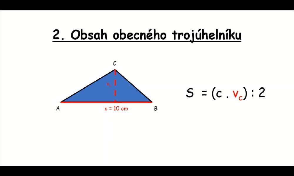 5. náhled výukového kurzu Obsah trojúhelníku