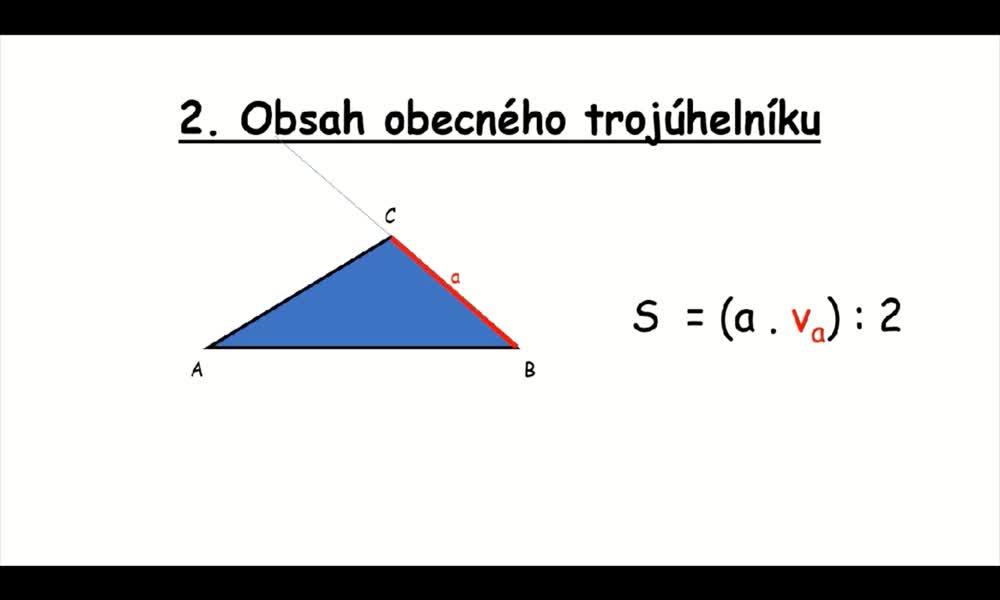6. náhled výukového kurzu Obsah trojúhelníku