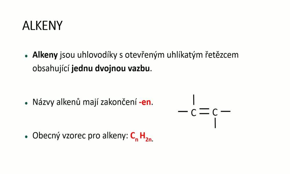 1. náhled výukového kurzu Alkeny a alkadieny