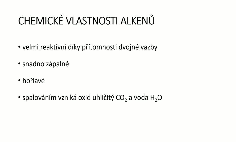 2. náhled výukového kurzu Alkeny a alkadieny