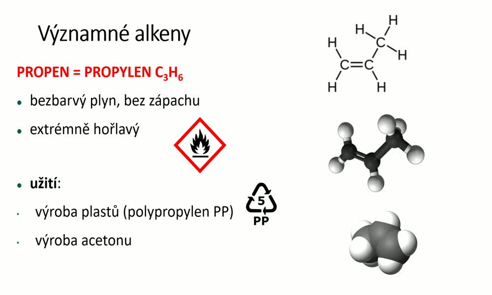 5. náhled výukového kurzu Alkeny a alkadieny