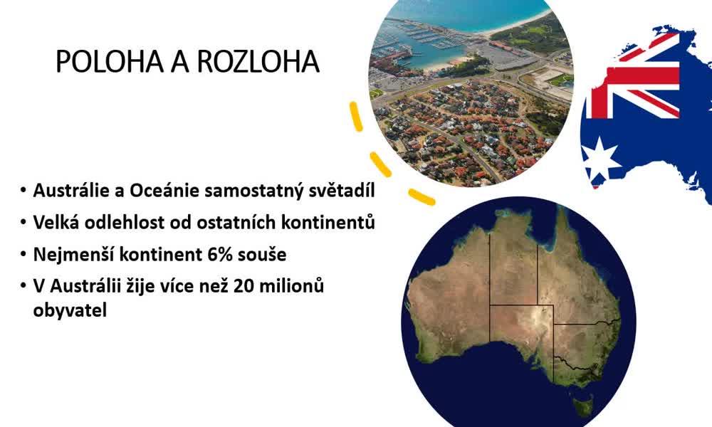 1. náhled výukového kurzu Austrálie a Oceánie - přírodní podmínky