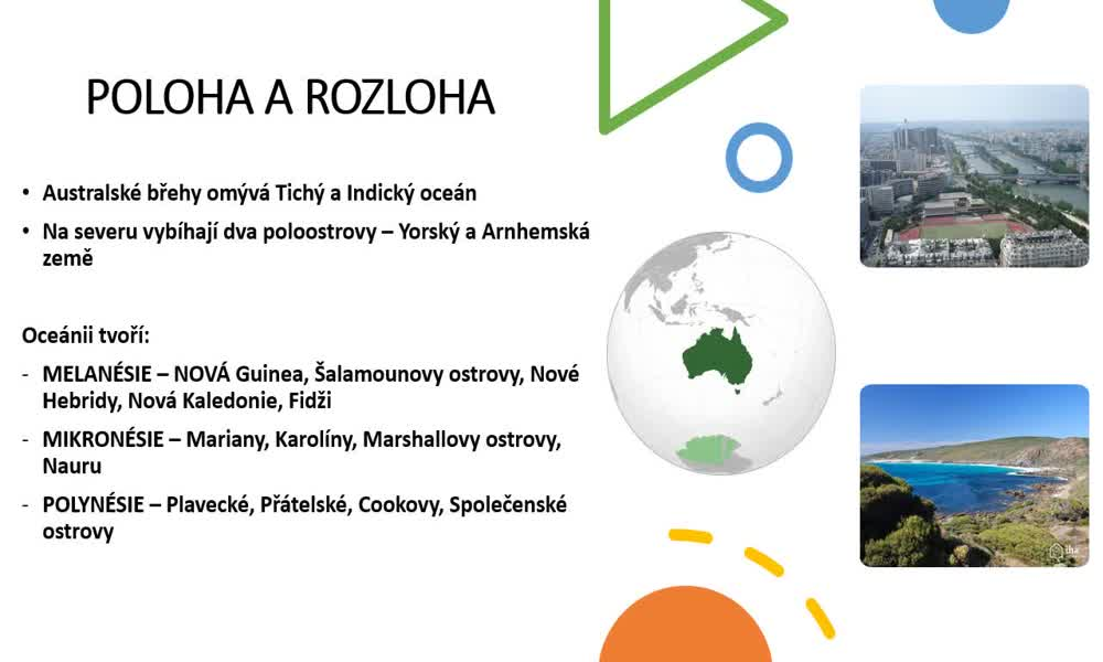2. náhled výukového kurzu Austrálie a Oceánie - přírodní podmínky