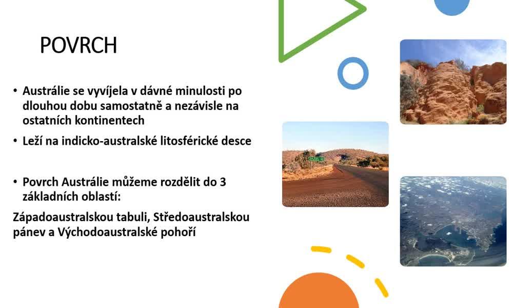 3. náhled výukového kurzu Austrálie a Oceánie - přírodní podmínky