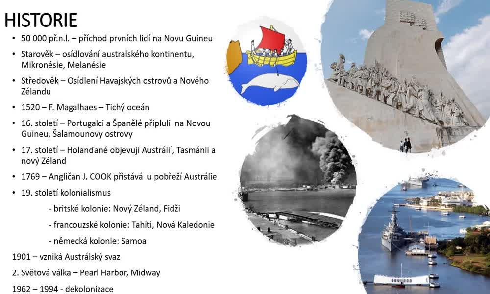 2. náhled výukového kurzu Austrálie a Oceánie - charakteristiky obyvatelstva, sídel a hospodářství