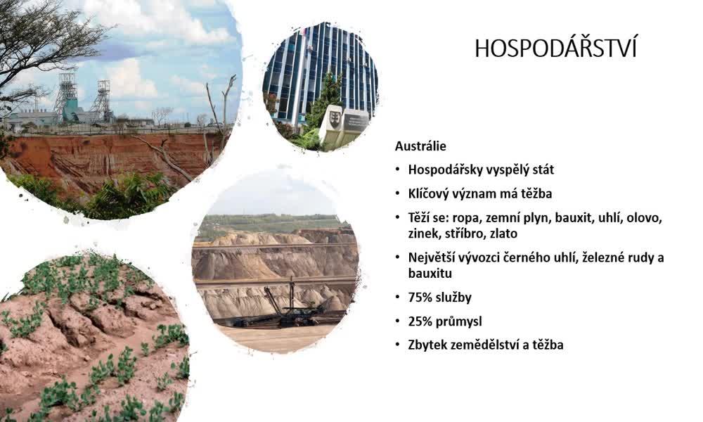 4. náhled výukového kurzu Austrálie a Oceánie - charakteristiky obyvatelstva, sídel a hospodářství