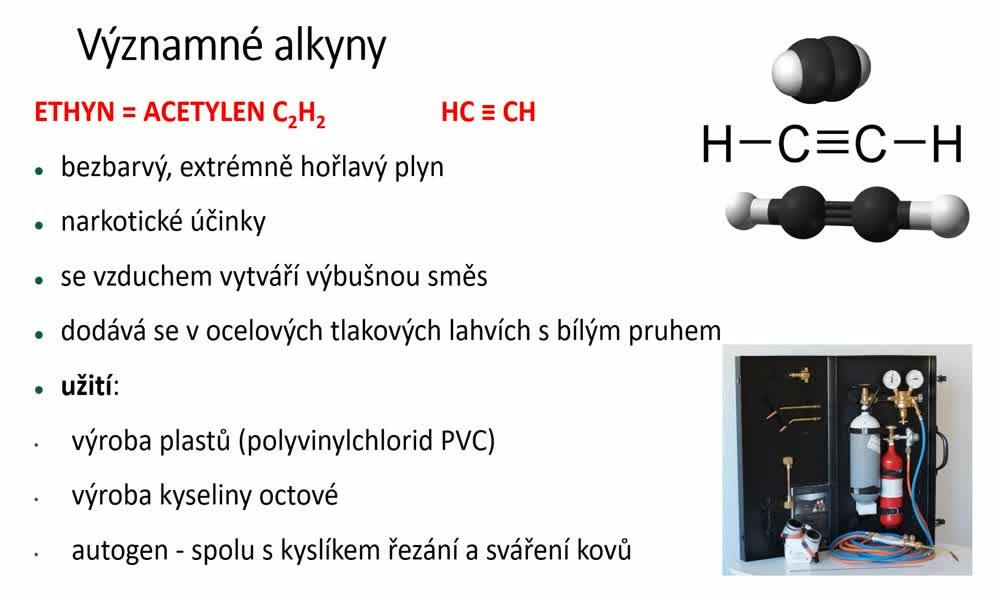4. náhled výukového kurzu Alkyny, polymerace