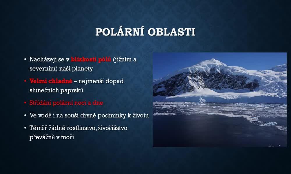 1. náhled výukového kurzu Arktida a Antarktida