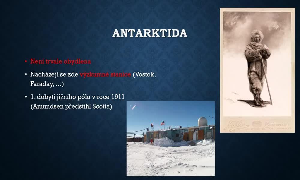 2. náhled výukového kurzu Arktida a Antarktida