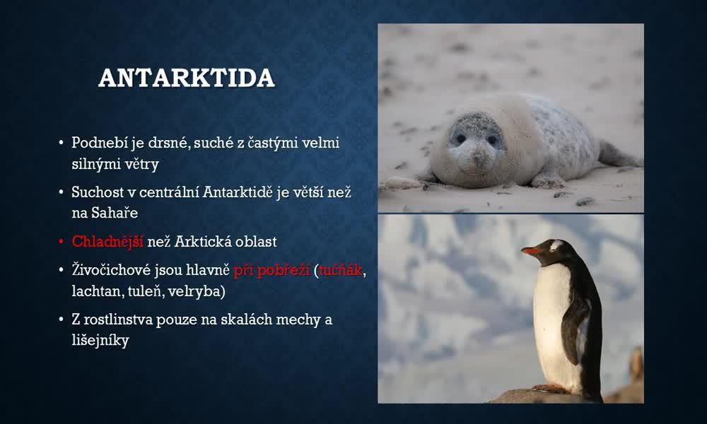 3. náhled výukového kurzu Arktida a Antarktida