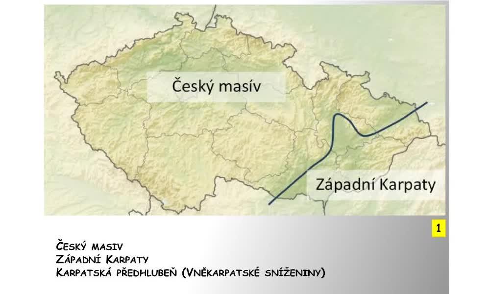 1. náhled výukového kurzu Český masiv a Západní Karpaty