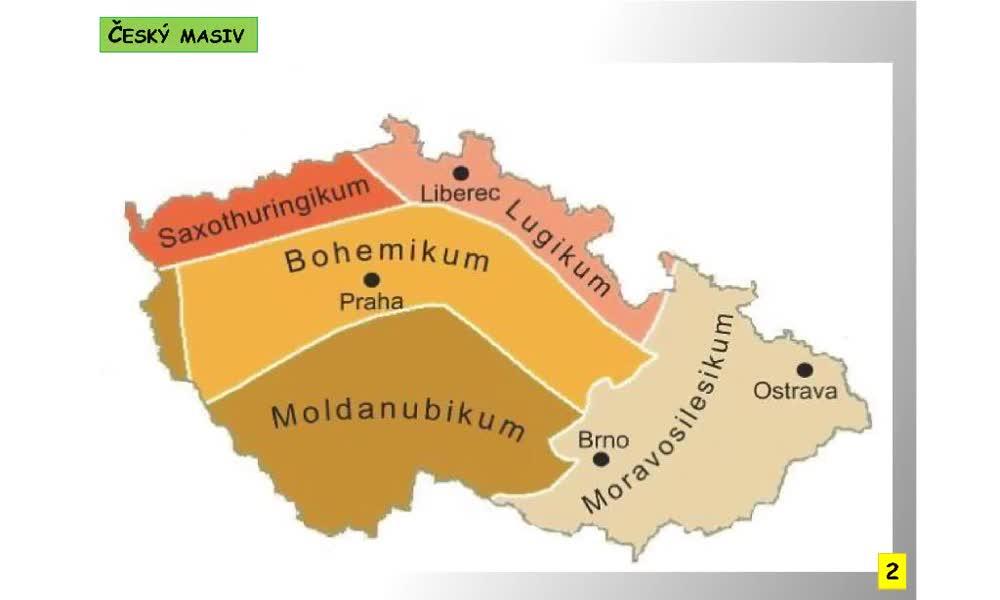 2. náhled výukového kurzu Český masiv a Západní Karpaty