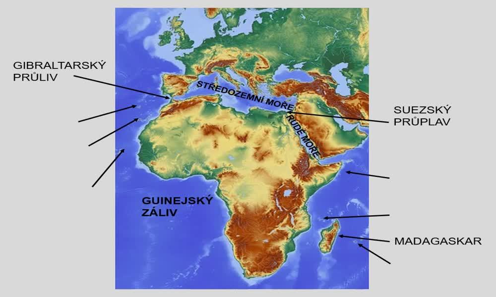 4. náhled výukového kurzu Afrika - poloha, rozloha, povrch, podnebí
