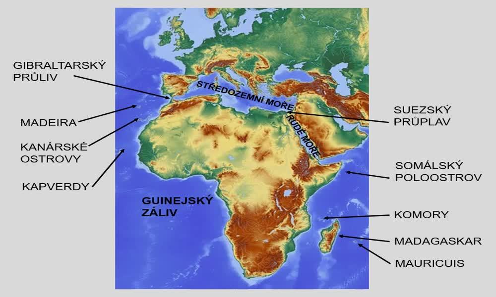 5. náhled výukového kurzu Afrika - poloha, rozloha, povrch, podnebí