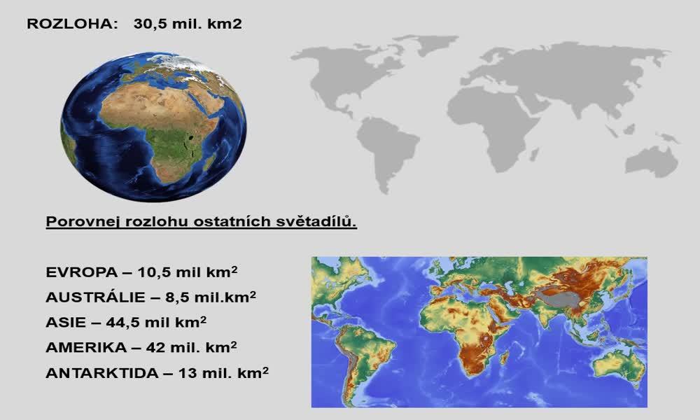 6. náhled výukového kurzu Afrika - poloha, rozloha, povrch, podnebí