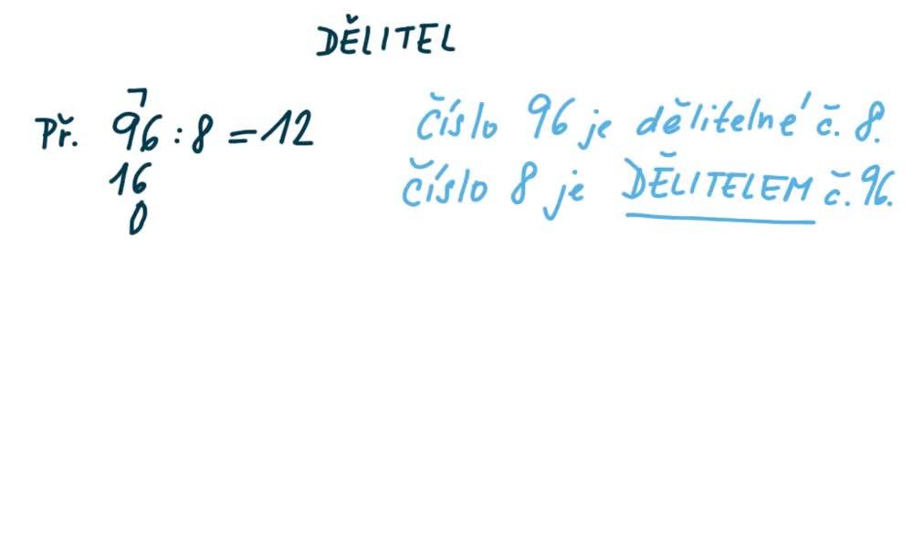 2. náhled výukového kurzu Dělitel