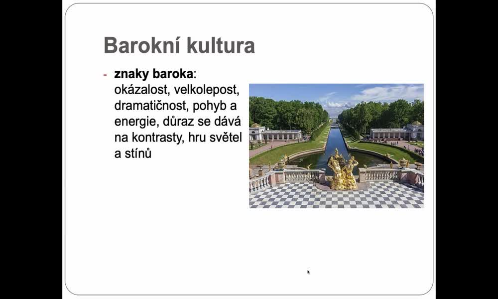 2. náhled výukového kurzu Barokní kultura