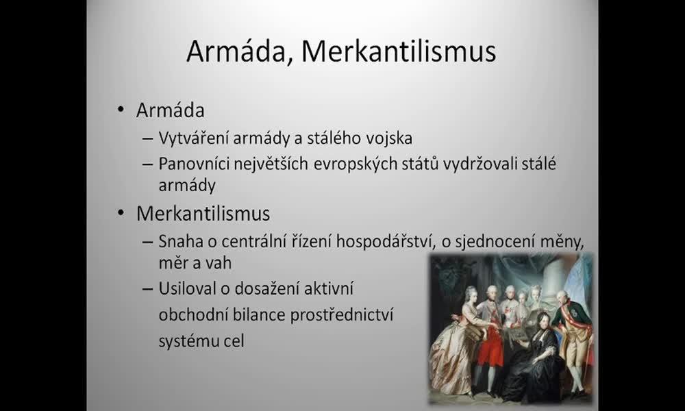 3. náhled výukového kurzu Absolutismus a stavovství