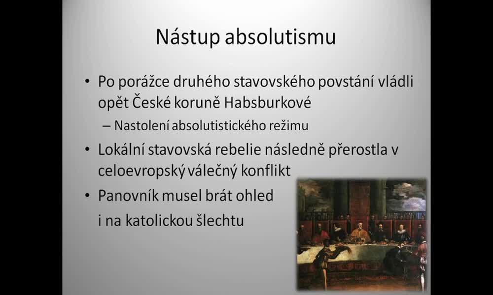 5. náhled výukového kurzu Absolutismus a stavovství