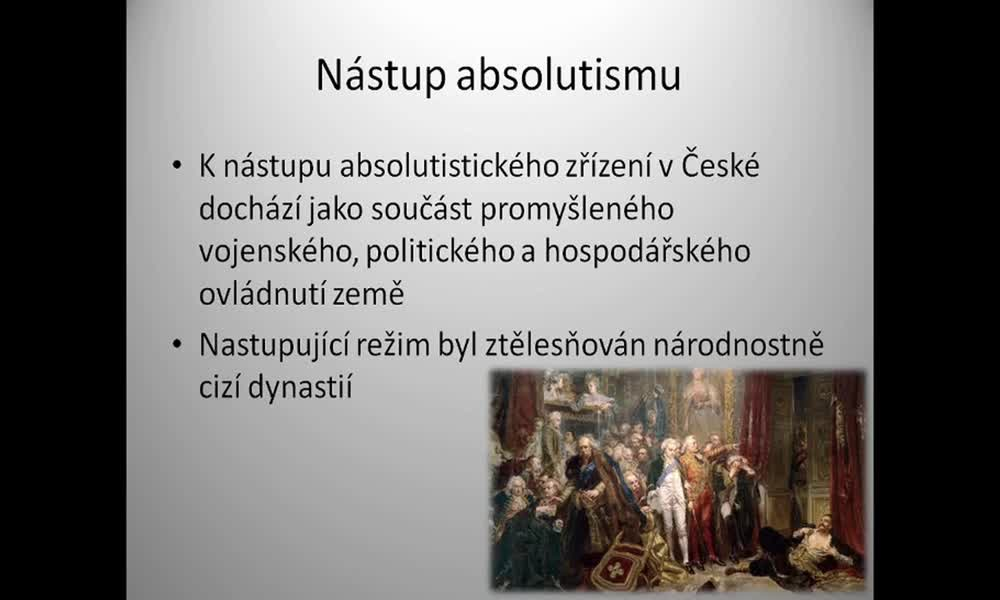 6. náhled výukového kurzu Absolutismus a stavovství