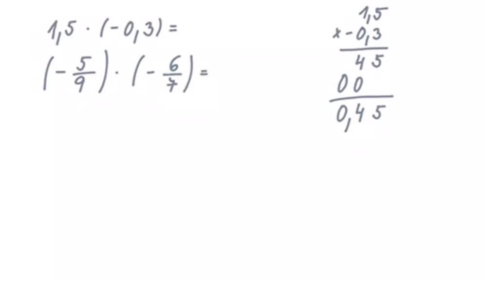 6. náhled výukového kurzu Násobení a dělení racionálních čísel