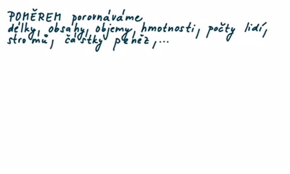 3. náhled výukového kurzu Poměr - úvod do látky