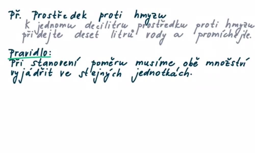4. náhled výukového kurzu Poměr - úvod do látky