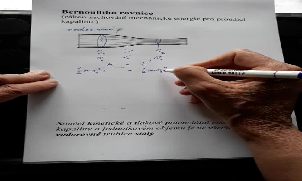 2. náhled výukového kurzu Bernoulliho rovnice